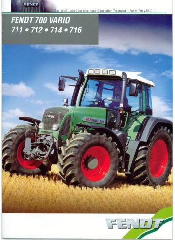 FENDT 312 FENDT 700 VARIO Traktoren Prospekt von 01//2012